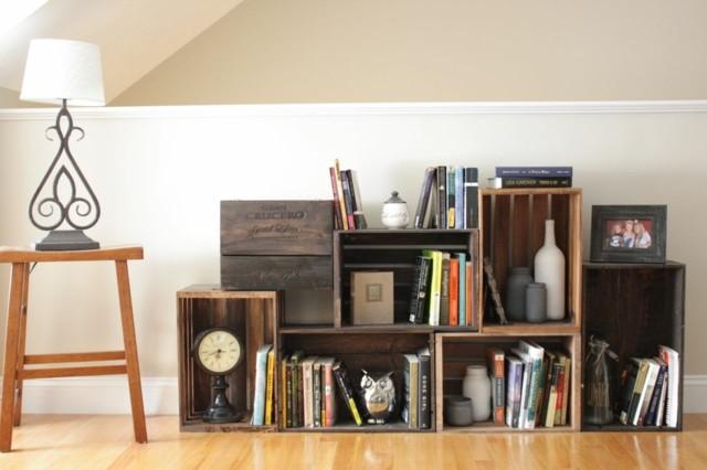 muebles diseño moderno cajas madera