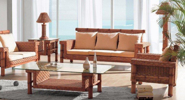 Muebles mimbre dentro y fuera de la casa moderna - Casas de muebles ...
