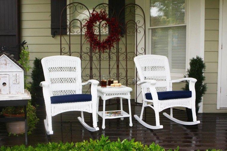 muebles mimbre originales interior exterior casa sillones blancos ideas