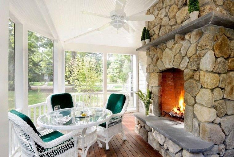 muebles originales interior exterior casa chimenea ideas