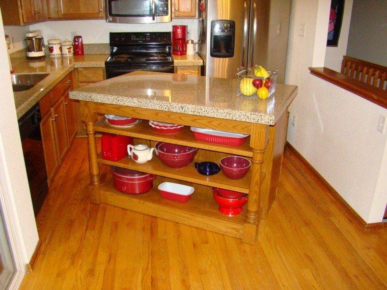 natural cocina decorado estante frutas