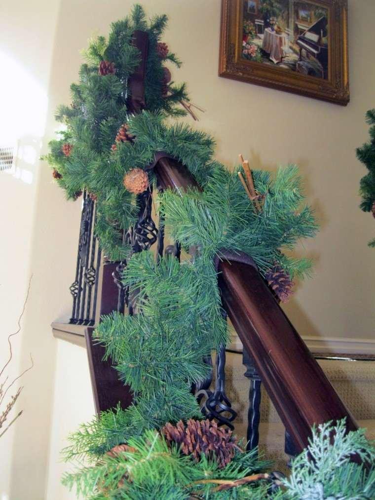 natural conos escalera pino cuadro