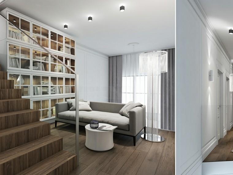 natural estantes decorado habitacion escaleras led