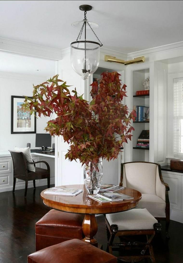naturaleza centro elegante salon lampara