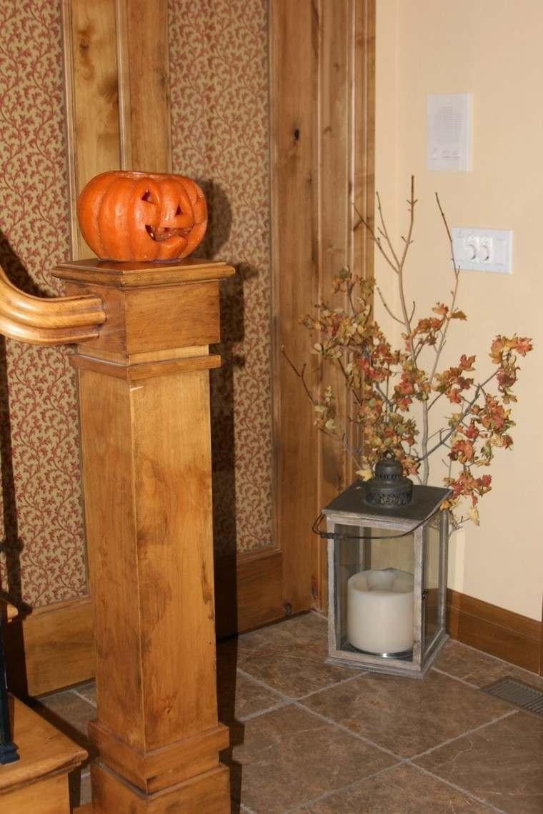 naturaleza centro mesa diseño calabaza escalera