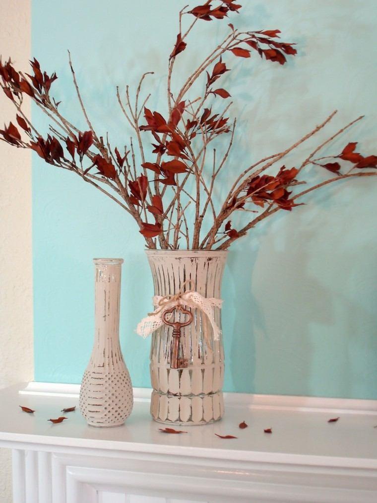 naturaleza centro mesa rojo blanco