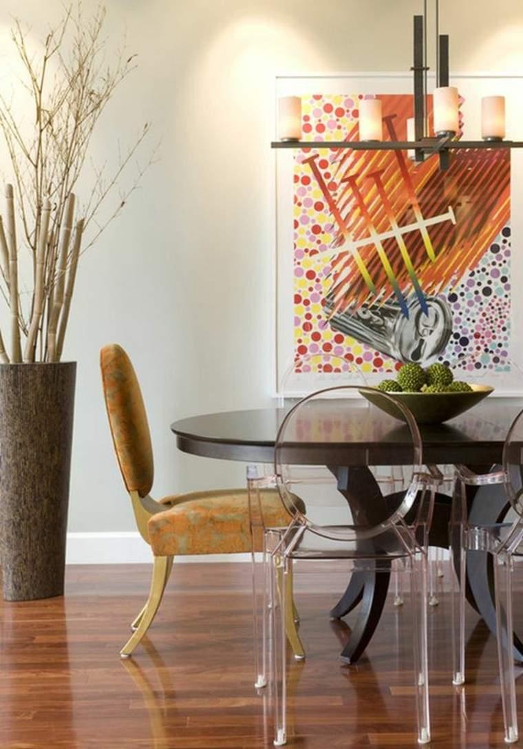 naturaleza centro mesa sillas madera