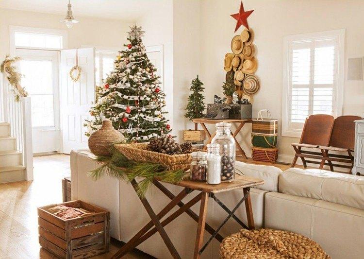 navidad decoracion madera cajones estrella