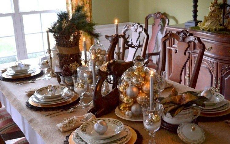 navidad decoracion casas rusticas madera dorado