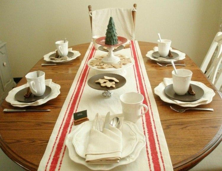 navidad decoracion arbol galletas papel
