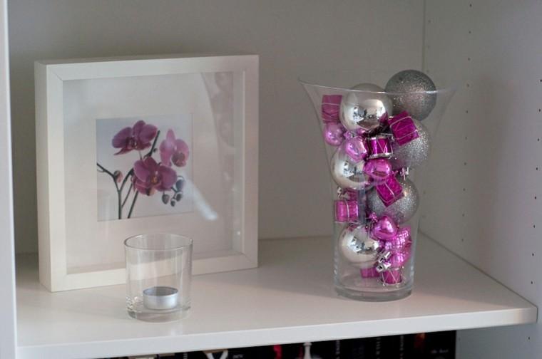 navidad decorado colorido detalles vaso