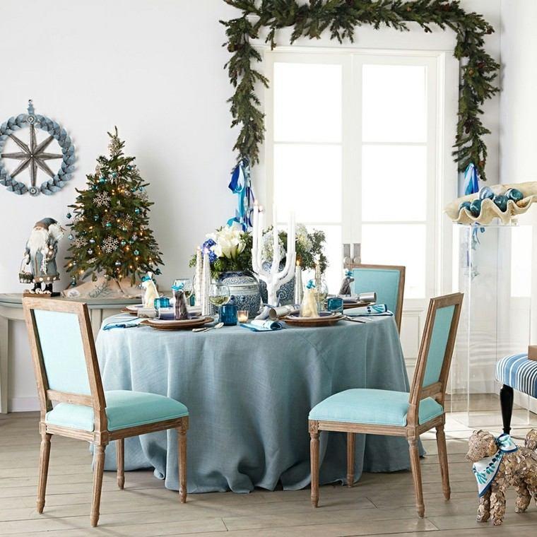 navidad nautica ideas estilo estrellas guirnaldas sillas