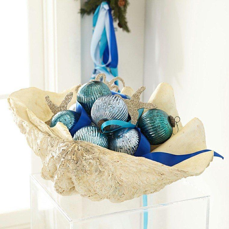 navidad nautica ideas estilo bolas azul