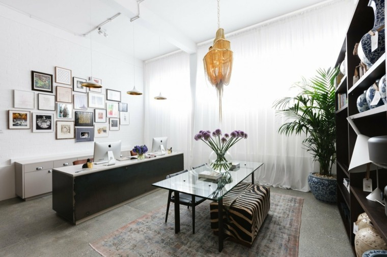 oficina separada casa lampara cuadros