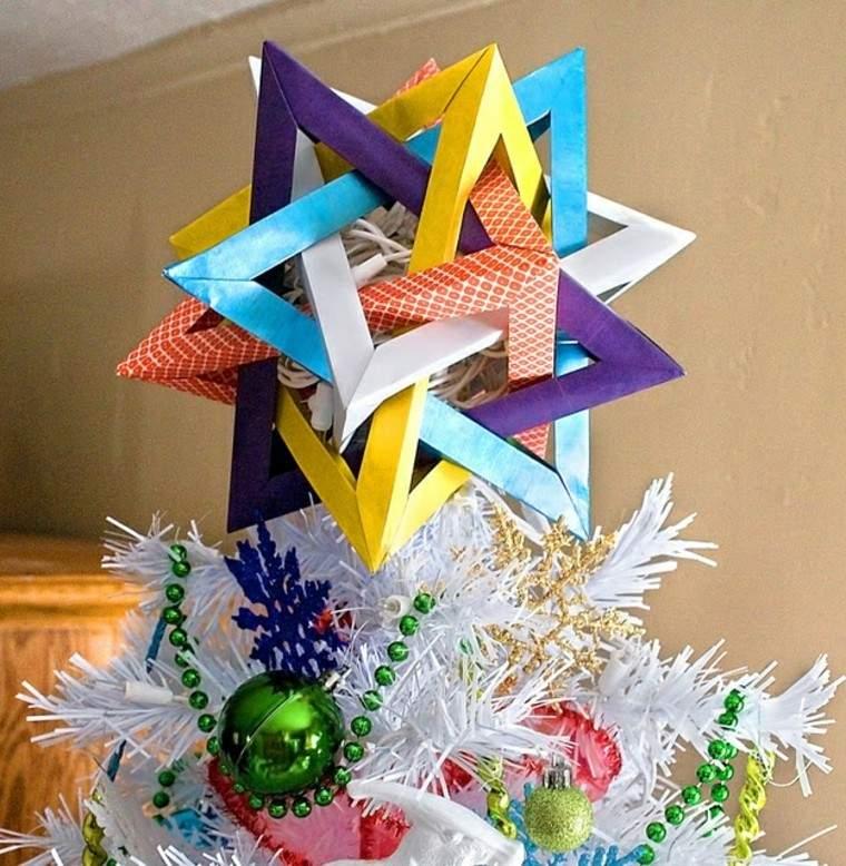 origami colorido cupula esferas bolas