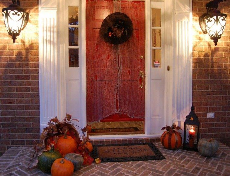 original diseño telaraña puerta roja