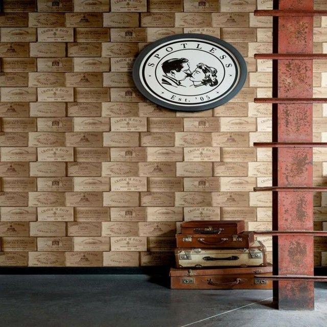 original decoración pared madera