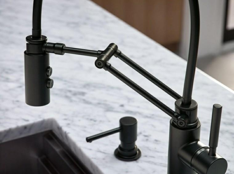 Grifos de cocina y accesorios de baño en negro - 50 ideas