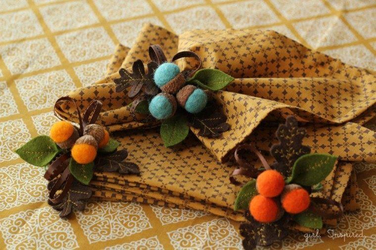 originales servilletas adornos otoño deco
