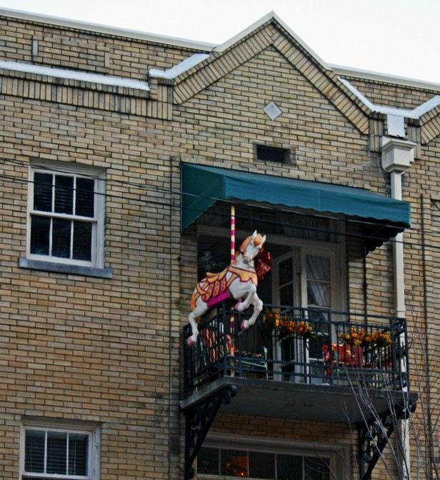 original adorno terraza caballo tiovivo