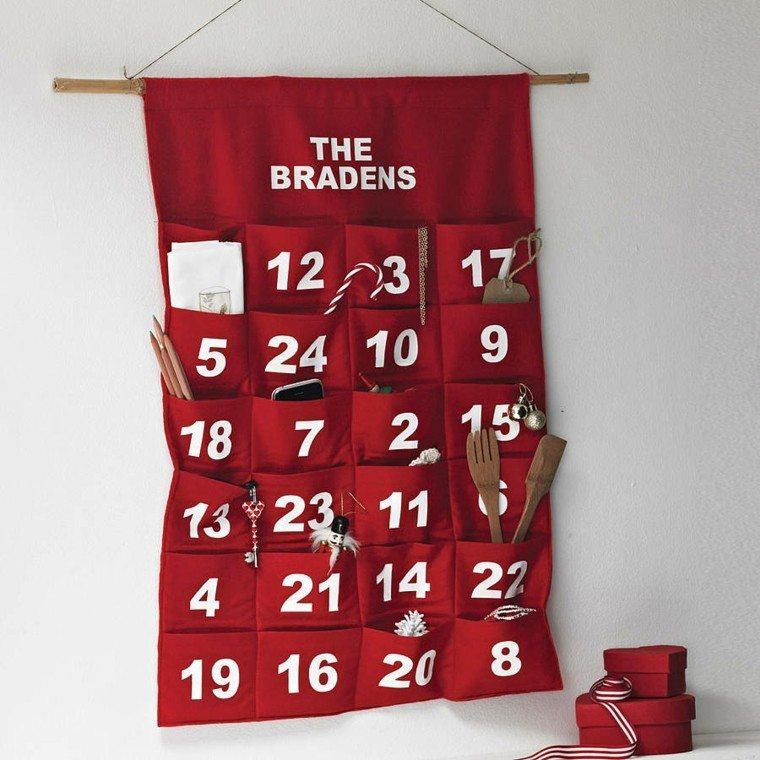 original diseño calendario adviento