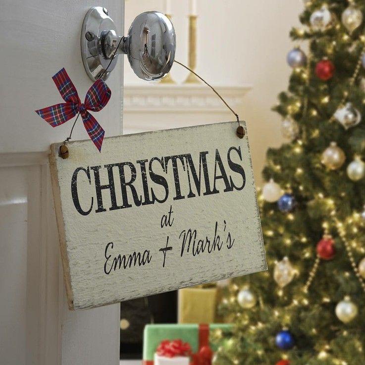 original cartel navidad estilo retro