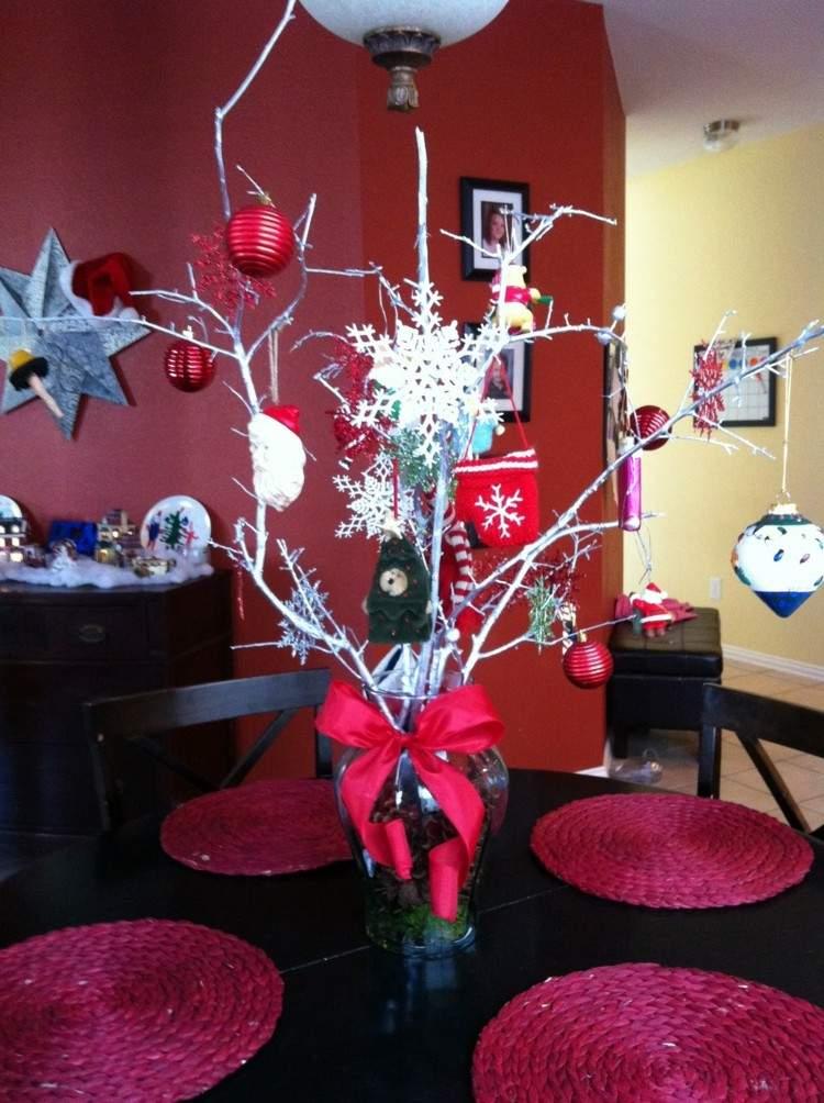 Cena de navidad cincuenta ideas para decorar la mesa for Adornos navidenos sencillos