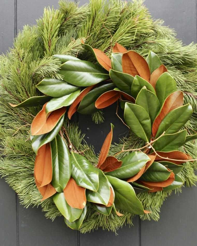 original corona hojas color naranja