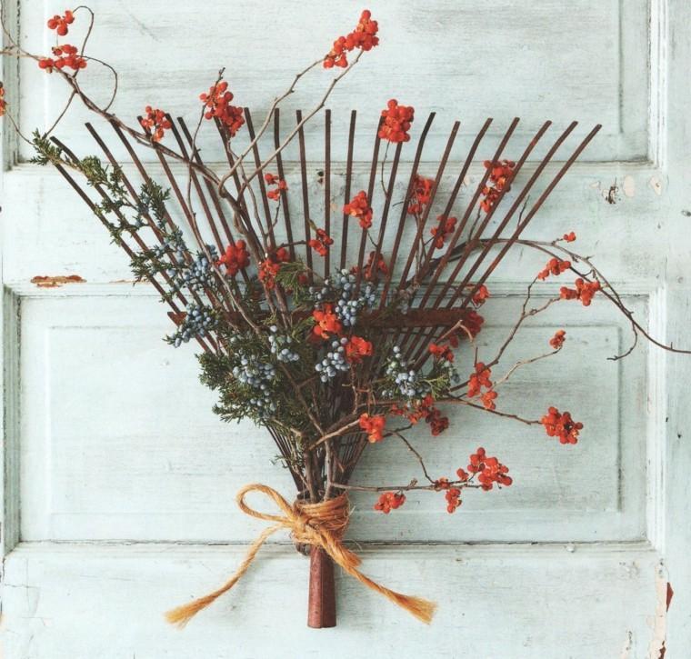 rastrillos decorativo flores bayas
