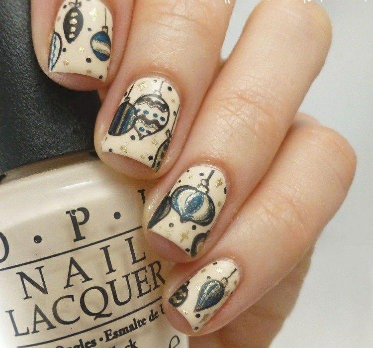 original decoración uñas navidad