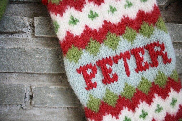 original diseño calcetin navideño lana
