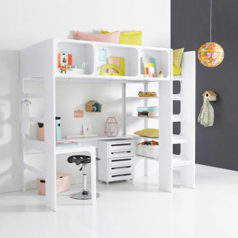 original módulo blanco habitación juvenil