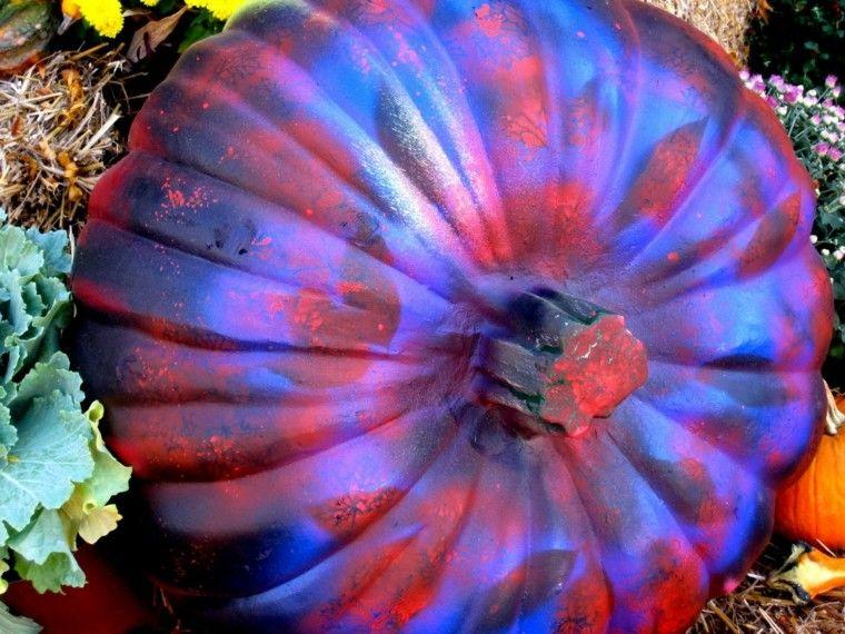 original pintura calabaza halloween roja