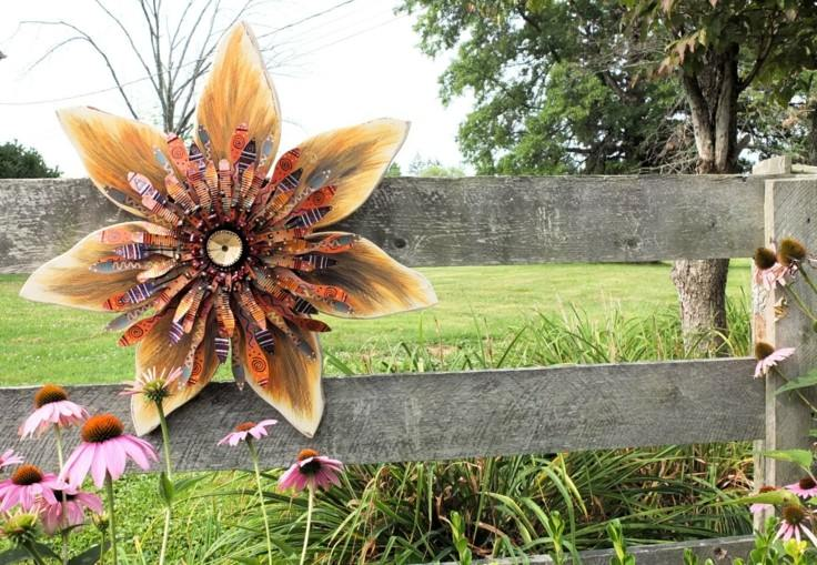 original adorno otoño flor valla