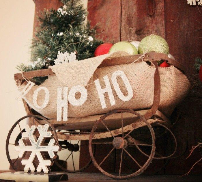 original carrito entrada casa navidad