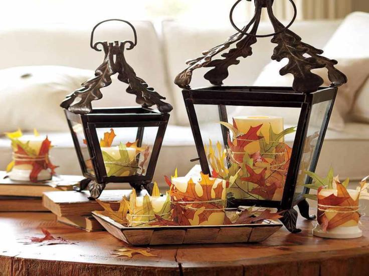 decorar cocinas hojas secas