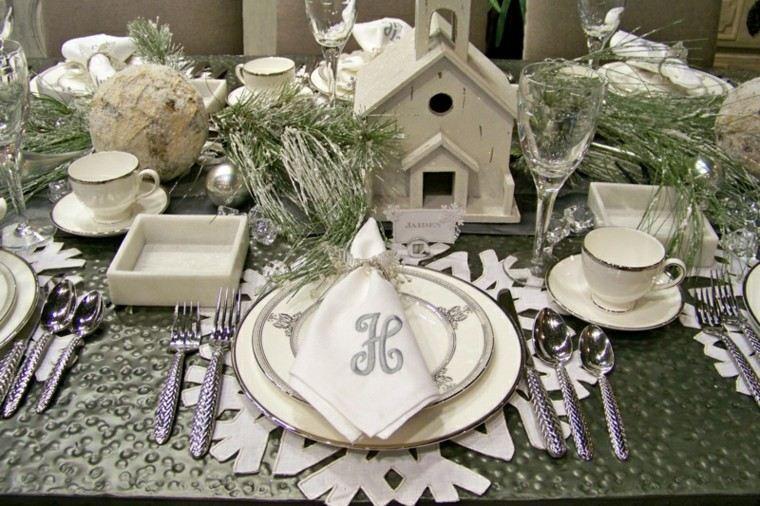 original decoración mesa navidad