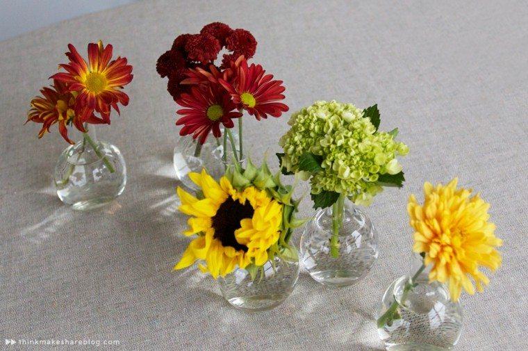 originales adornos jarrones cristal