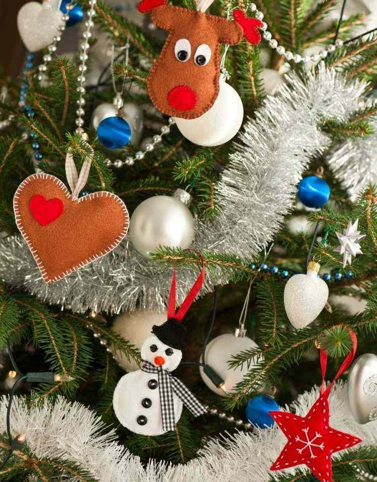 originales adornos navideños caseros colores