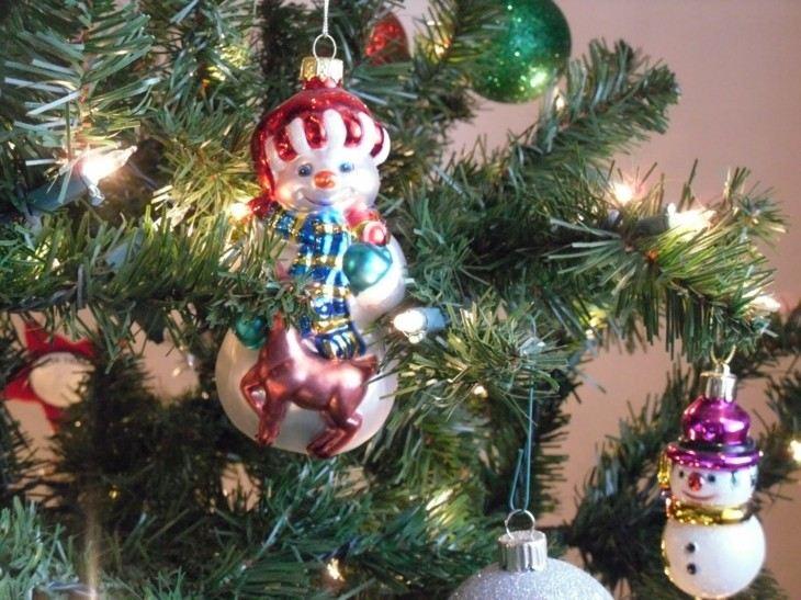 originales adornos retro arbol navidad