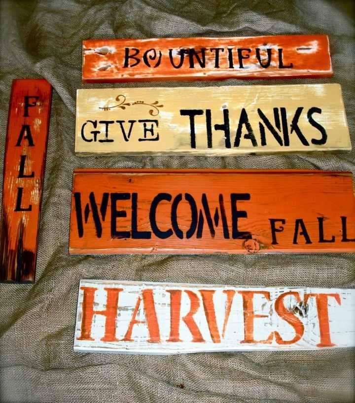 originales carteles otoño color naranja