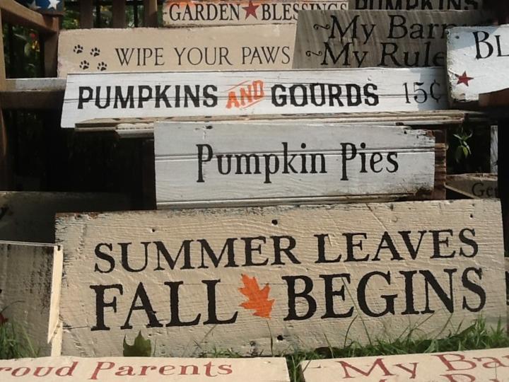 originales carteles madera otoño deco