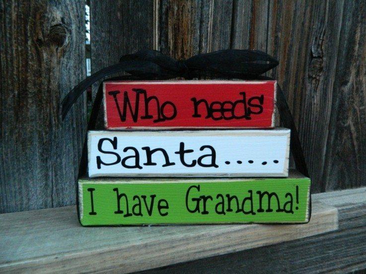 originales carteles navidad bloques madera