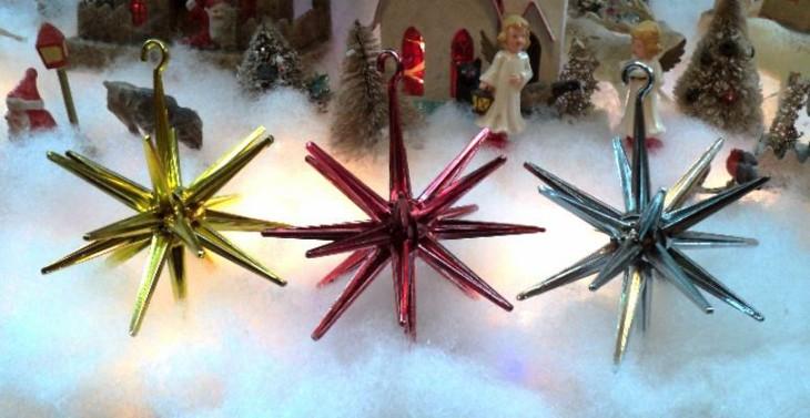 originales estrellas navidad estilo retro