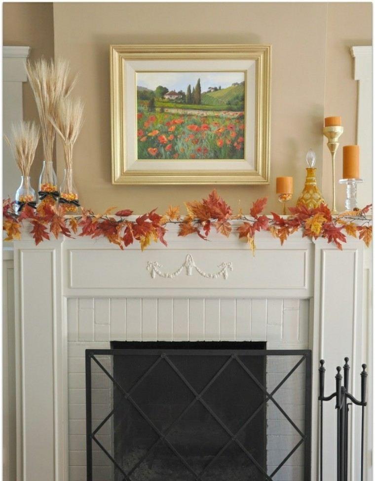 Oto o chimeneas y repisas acogedoras para cada hogar - Decoracion con chimeneas ...