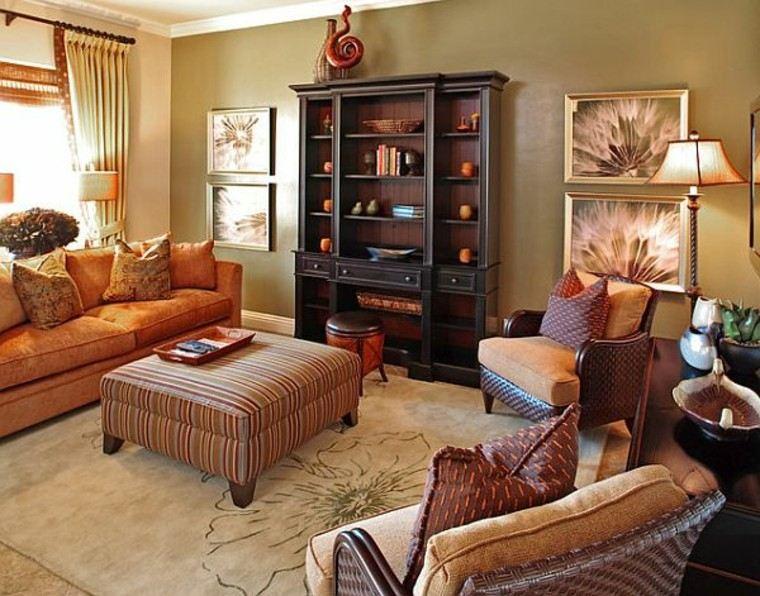 otoño decoracion de salones mesa elegante sofa