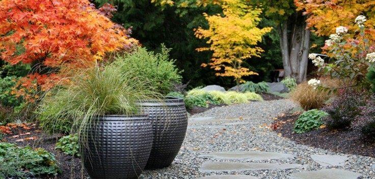 paisajes otoñales jardin camino piedra