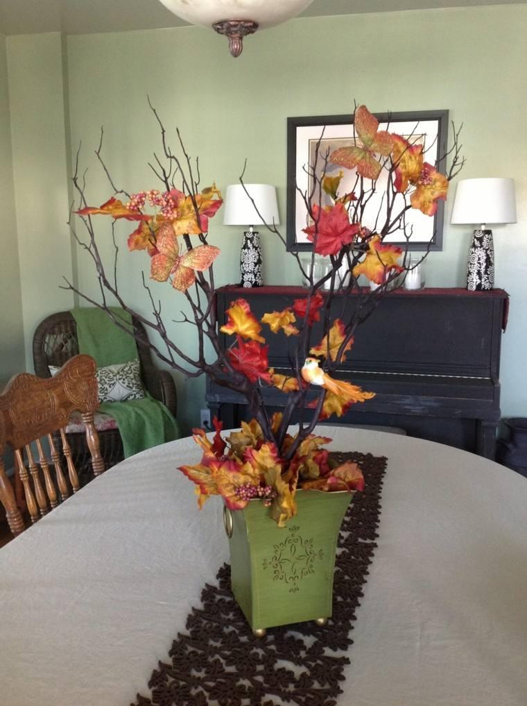 pajaros centro mesa decoracion macetas