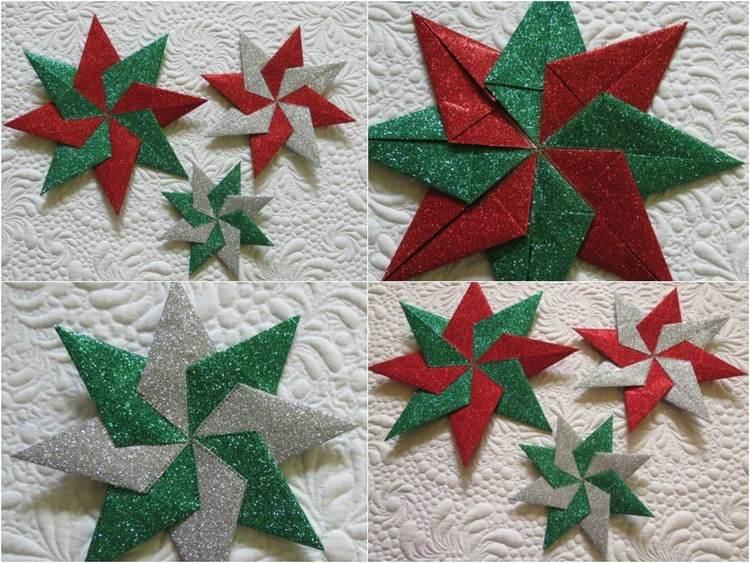 papel origami diseños coloridos estrella