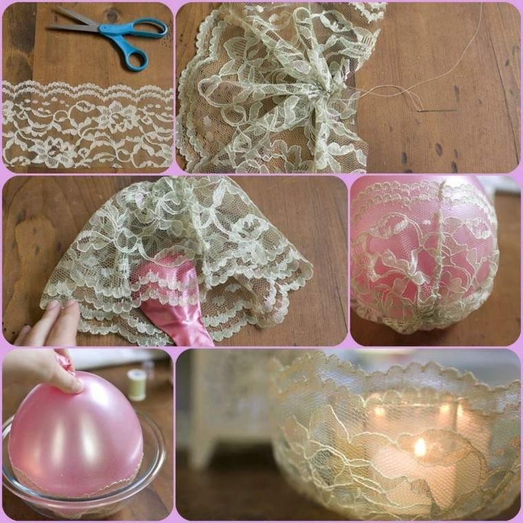 partavelas manualidades preciosas velas romanticas encaje ideas